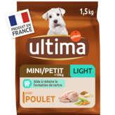 Ultima ULTIMA Mini 1-10kg - Light - Croquettes pour chien - Poulet ... - 1,5kg