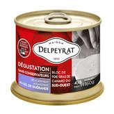 Delpeyrat DELPEYRAT Bloc de foie gras de canard du Sud-Ouest - Au sel ... - 160g