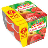Andros ANDROS Compote - Pomme Fraise - 8 pots - 8x100g