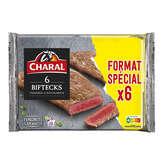 Charal CHARAL Viande bovine steak*** à griller - x6 - 600g