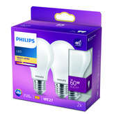 Philips Lot De 2 Ampoules Led Standard E27 60w - X2