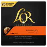 Maison du Café L'OR Espresso - Delizioso - 20 Capsules Aluminium - Intensité 5 - Café - 104g