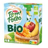 Materne POM'POTES Compotes aux fruits bio - Pomme, mangue et banane ... - 4x90g