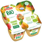 Andros ANDROS Compote bio - Pomme poire - 4 pots - Biologique - 4x90g