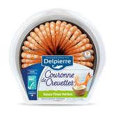 Delpierre DELPIERRE Couronne de crevettes - Sauce fines herbes - 130g