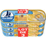 Petit Navire PETIT NAVIRE Filets de maquereaux - Moutarde à l'ancienne - 3x169g
