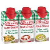 Elle & Vire ELLE & VIRE Crème de Normandie - Semi-épaisse - Entière 30%mg - 3x20cl