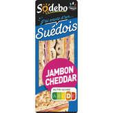 Sodeb'O SODEBO Le suédois - Pain polaire - Sandwich - Jambon cheddar... - 135g