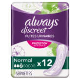 Always ALWAYS Always Discreet - Serviettes Normal Pour Fuites Urina... - x12