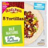 Old El Paso OLD EL PASO 8 Tortillas extra moelleuses - Blé nature - 326g