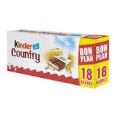 Kinder KINDER Country - Barres aux céréales chocolatées - 423g