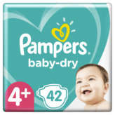 Pampers PAMPERS Baby-Dry - Couche - Taille 4+ - 10-15kg - x42