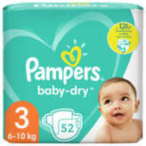 Pampers PAMPERS Baby-Dry - Couche - Taille 3 - 6-10kg - x52