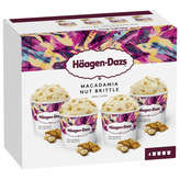 Häagen-Dazs HAAGEN DAZS Macadamia nut Brittle - Crème glacée - Noix de m... - x4