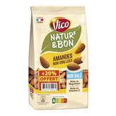 Vico VICO Natur & bon - Amandes naturelles - Non salées - 240g