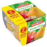 Andros ANDROS Compote - Pomme Poire - x10
