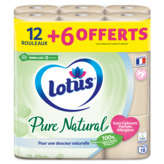 Lotus LOTUS Confort - Papier toilette - Pure natural - x18