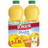 Joker JOKER Le pur jus - Jus d'orange - Sans pulpe - 2x1,5l