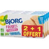 Bjorg BJORG Biscuits - Fourrés framboise - Biologique - 3x175g