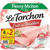 Fleury Michon FLEURY MICHON Jambon cuit Le Torchon Tradition - 4 + 2 gratuites