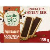 SO'BiO étic LEA NATURE Tartinettes à croquer - Au chocolat noir - 138g