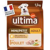 Ultima ULTIMA Mini 1-10kg - Adulte 1-8 ans - Croquettes pour chien ... - 1,5kg