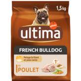 Ultima ULTIMA French Bulldog - Croquettes pour chien - Poulet riz c... - 1,5kg