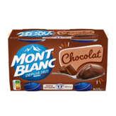 Mont Blanc MONT BLANC Crème dessert - Saveur chocolat extra fin - 4x125g
