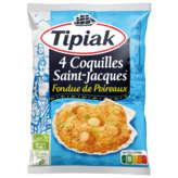 Tipiak TIPIAK Coquilles Saint-Jacques - Fondue de poireaux - 4x90g
