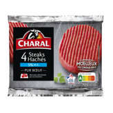 Charal CHARAL Steaks hachés - 5% mg - x4 - 4x100g
