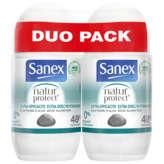 Sanex SANEX Natur Protect - Déodorant - Extra efficacité - A la pi... - 2x50ml