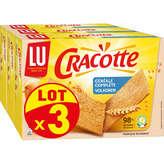 LU LU Cracotte - Tartine craquante - Céréales complètes - 3x250g