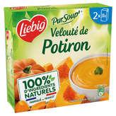 Liebig LIEBIG Pur Soup - Velouté Potiron à la crème fraiche - 2x30cl