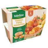 Blédina BLEDINA Purée de fruits - Saveur Pommes Poires Mandarines - De 8 à 36 mois - 4x100g