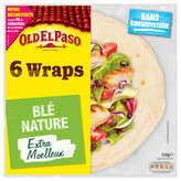Old El Paso OLD EL PASO 6 Wraps extra moelleux - Blé nature - 350g