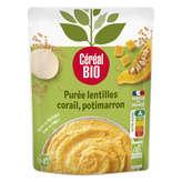 Céréal Bio CEREAL BIO Purée - Lentilles corail - Potimarron - Biologiqu... - 250g