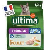 Ultima ULTIMA Croquettes pour chat stérilisé de plus de 10 ans - Po... - 1,5kg