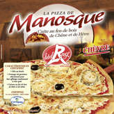 La Pizza de Manosque MANOSQUE Pizza chèvre surgelée Label Rouge - 430g
