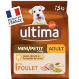Ultima ULTIMA Spécial mini - Nourriture pour chien adulte - Poulet ... - 7,5kg