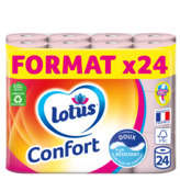 Lotus LOTUS Papier hygiénique Confort Blanc - x24