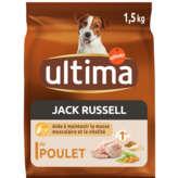 Ultima ULTIMA Jack Russel - Croquettes pour chien - Poulet riz céré... - 1,5kg