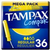 Tampax TAMPAX Compak - Tampon hygiénique avec applicateur - Régulie... - x36