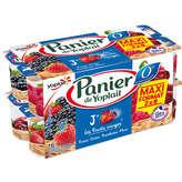 Yoplait YOPLAIT Panier de Yoplait - Yaourts 0% matières grasses - Fruits rouges - Fraise, Cerise, Framboise, Mûre - 16x130g