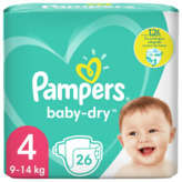 Pampers PAMPERS Baby-Dry - Couches - Taille 4 - x26
