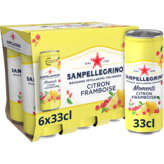 San Pellegrino SAN PELLEGRINO Momenti - Boisson pétillante - Citron et framboise - 6x33cl