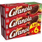 LU LU Granola - Biscuits - Chocolat Noir - 6x195g
