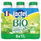 Lactel LACTEL Bio - Lait écrémé - biologique - 6x1l