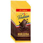 Poulain POULAIN Tablettes de chocolat - Noir extra - 6x100g