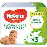 Huggies HUGGIES Pure Extra Care - Lingettes - Aloé vera - x56