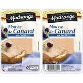 Madrange MADRANGE Mousse de canard au porto - Pâté en tranche - x2